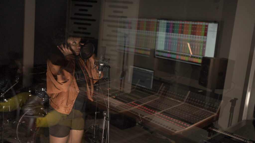 Stephney boose through the booth